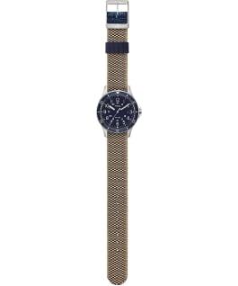 Navi Ocean 38mm Reversible Stonewashed Fabric Strap Watch Stainless-Steel/Blue/Black large