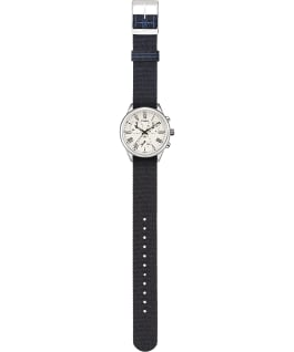 Weston Avenue 38mm Reversible Grosgrain Strap Watch Stainless-Steel/Cream large