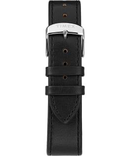 Standard mit Lederarmband, 40 mm Silberfarben/schwarz large