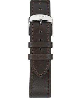 Standard mit Lederarmband, 40 mm Silberfarben/braun/cremefarben large
