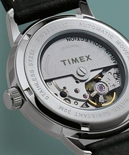 Montre automatique Marlin 40mm bracelet à milanaise Acier inoxydable/Noir large