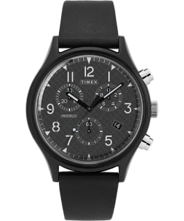 MK1 Supernova Chronograph 42mm Leather Strap Watch Black large