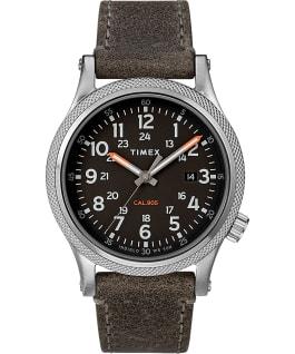 Reloj Allied LT de 40mm con correa de cuero Plateado/Gris/Negro large