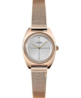 Zegarek Milano Petite z kopertą 24 mm i siatkową bransoletą Różowe złoto/Srebrny large