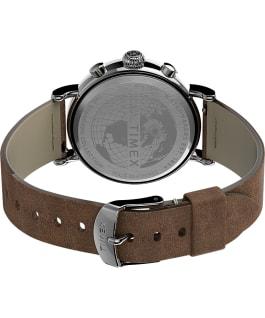 Orologio Standard Chronograph 41 mm con cinturino in pelle Silver/Miele/Blu large