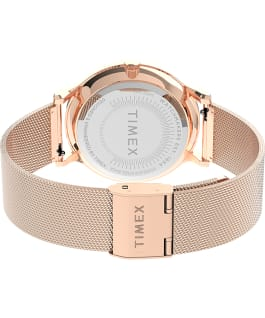 Transcend Multifunction 38mm Stainless Steel Mesh Band Watch, Rose-Gold-Tone/Pink, large