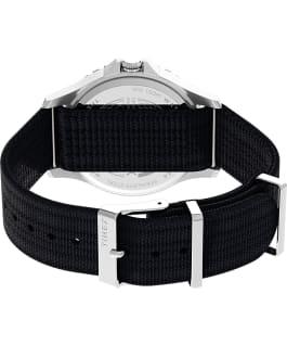 Navi XL 41mm Fabric Slip Thru Strap Watch Stainless-Steel/Dark Navy Blue large