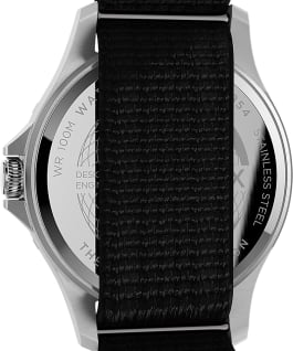Navi XL 41mm Fabric Slip Thru Strap Watch Stainless-Steel/Black large