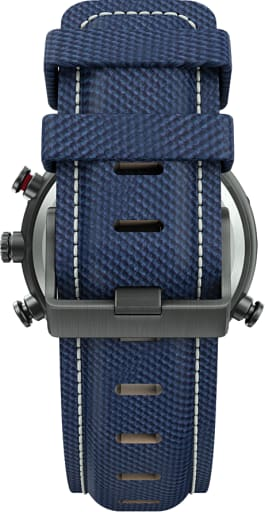 Allied 45mm Fabric Strap Watch Gunmetal/Blue large