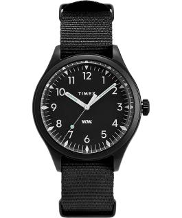 Timex x Wood Wood 38mm Fabric Strap Watch Black large