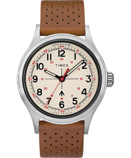 Timex x Todd Snyder Military Inspired 40mm Tan Leather Strap Watch  large