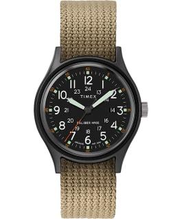 Reloj Archive MK1 de aluminio de 40mm con correa de tela Negro/Oliva large