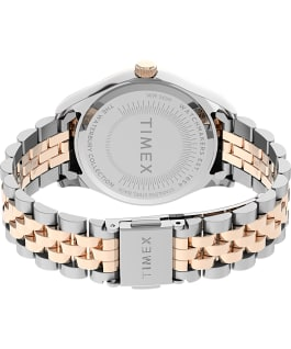 Montre Waterbury Legacy 34 mm Bracelet en acier inoxydable Bicolore/Argenté large