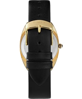 Milano 33mm Leather Strap Watch Gold-Tone/Black large