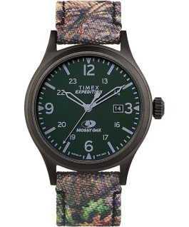 Timex x Mossy Oak Expedition Scout mit Stoffarmband, 40 mm Schwarz/braun large