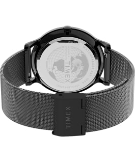Norway 40mm Stainless Steel Mesh Band Watch Black large
