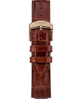 Marlin® 34mm Hand-Wound Leather Strap Watch Gold-Tone/Brown/Green large