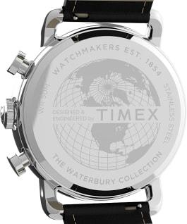Orologio Port Chronograph 42 mm con cinturino in pelle Acciaio /Nero/Bianco large