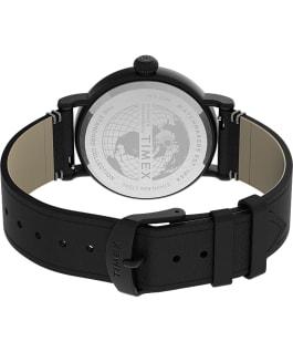 Zegarek Standard 41 mm z paskiem skórzanym Czarny large