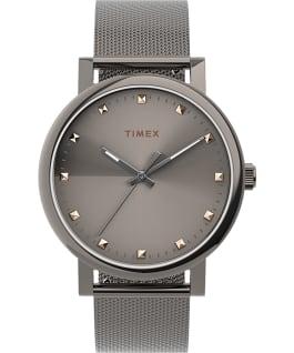 Montre Originals 38mm Bracelet à milanaise en acier inoxydable Gris métallique/Titane/Gris large