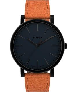 Montre Originals 42mm Bracelet en cuir Noir/Marron large