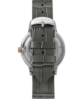 Waterbury Classic Automatic 40mm Leather Strap Watch with Open Heart Dial Stainless-Steel/Gray/Black large
