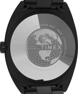 Zegarek Milano XL 38 mm ze stalową bransoletą Czarny large