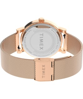 Full Bloom with Swarovski Crystals 38mm Mesh Bracelet Watch Rose-Gold-Tone/White large
