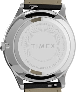 Orologio Easy Reader Gen1 32 mm con cinturino in pelle Silver-Tone/Black/White large