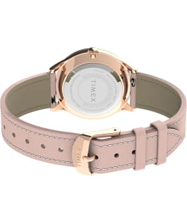 Montre Easy Reader Gen1 32 mm Bracelet en cuir Or rose/Rose/Blanc large