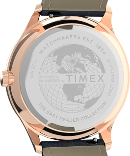 Easy Reader Gen1 40mm Leather Strap Watch Rose-Gold-Tone/Blue large