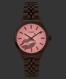 Waterbury Neon 34mm Stainless Steel Bracelet Watch Rose-Gold-Tone/Cream large