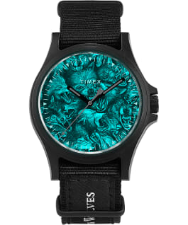 Timex x Raised by Wolves 40mm Fabric Strap Watch Black large