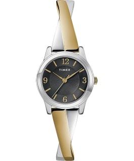 Fashion Stretch Bangle 25mm Expansion Band Watch Amz Chrome/Two-Tone/Black large