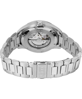 Waterbury Classic Automatic 40mm Stainless Steel Bracelet Watch with Open Heart Dial Stainless-Steel/Blue large