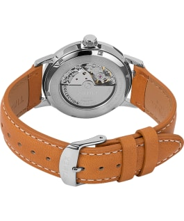 Montre automatique Marlin 40 mm Affichage de la date Bracelet en cuir Brown/Blue large