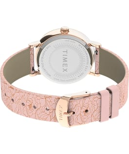 Fairfield Floral 37mm Leather Strap Watch Rose-Gold-Tone/Pink/Cream large