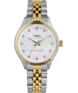 Waterbury Traditional Automatic 35mm Stainless Steel Bracelet Watch Stainless-Steel/Two-Tone/Mother-of-Pearl large