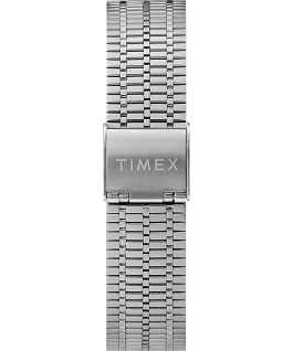 Orologio reissue Q Timex da 38 mm con bracciale in acciaio Stainless-Steel/Black/Red large