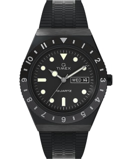 Orologio reissue Q Timex da 38 mm con bracciale in acciaio Black/Stainless-Steel/Black large