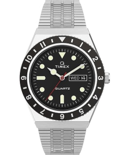 Orologio reissue Q Timex da 38 mm con bracciale in acciaio Stainless-Steel/Stainless-Steel/Black large