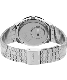 Orologio reissue Q Timex da 38mm con bracciale in acciaio Stainless-Steel/Stainless-Steel/Black large