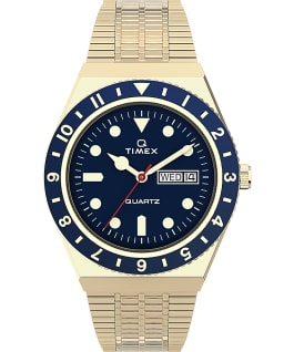 Orologio reissue Q Timex da 38 mm con bracciale in acciaio Gold-Tone/Stainless-Steel/Blue large