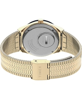 Q Timex Reissue 38mm Stainless Steel Bracelet Watch Gold-Tone/Stainless-Steel/Blue large
