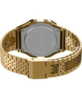 Zegarek Timex T80 34 mm z elastyczną bransoletą ze stali Złoty large