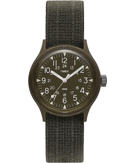 MK1 36mm Resin with Nylon Strap Watch Black/Green large