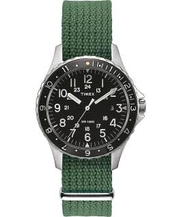 Montre Navi Ocean 38 mm Bracelet en tissu Black/Green large