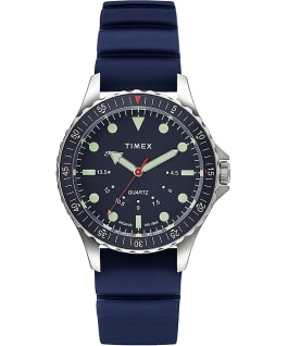 Reloj Navi Depth de 38 mm con correa de silicona Blue/Blue large