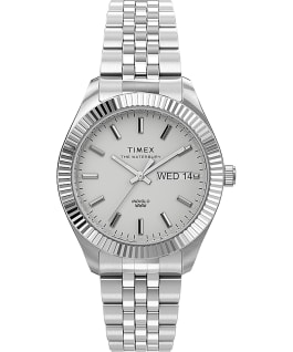 Waterbury Legacy Boyfriend 36mm Stainless Steel Bracelet Watch Stainless-Steel/White large