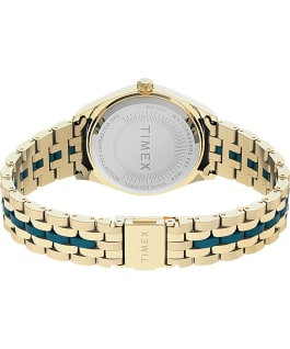 Waterbury Legacy Boyfriend Malibu 36mm Stainless Steel Bracelet Watch Gold-Tone/Blue large